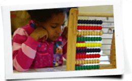 kids learning abacus