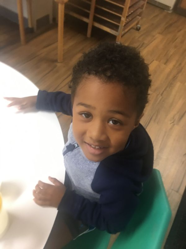 cute kid smiling